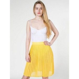 EUC American Apparel Yellow Chiffon Midi Skirt
